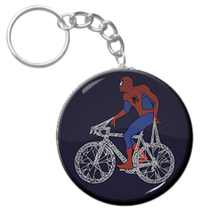 """Spiderman - Bicycle 1.5"""" Keychain"""