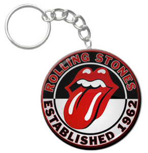 "Rolling Stones 2.25"" Keychain"