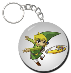 """Link with  Boomerang 1.5"""" Keychain"""