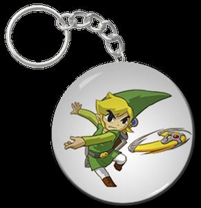 "Link w/ Boomerang 2.25"" Keychain"