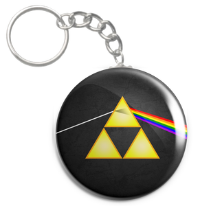 "The Dark Side of the Triforce 2.25"" Keychain"