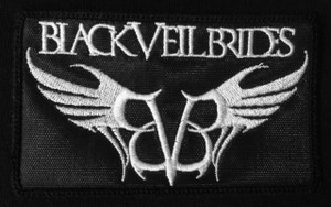 "Black Veil Brides - Wings Logo 4x2.5"" Embroidered Patch"