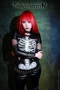 Dr. Frankenstein Bolero Jacket with See Through Sleeves