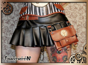 Dr. Frankenstein - Steampunk Skirt with Pouch