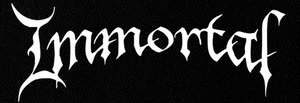"Immortal - New Logo 7x3"" Printed Patch"