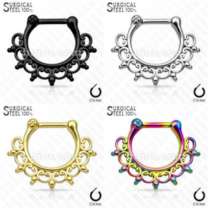 Lace Tribal Fan All Septum Clicker