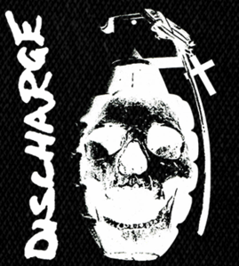 "Discharge - Skull Grenade 6x5"" Printed Patch"