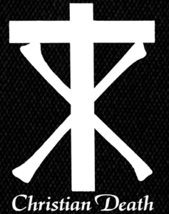"""Christian Death - Cross 5x6"""" Printed Patch"""