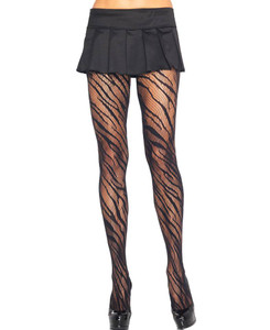 Leg Avenue - Zebra Net Tights Pantyhose