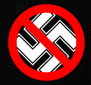 "Anti-Nazi Logo 5x5"" Printed Patch Punk"