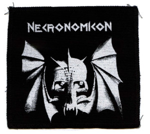 "Necronomicon - Bat Skull 6x6"" Printed Patch"