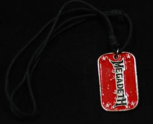 Megadeth Dog Tag Necklace