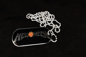 Helloween Dog Tag Necklace