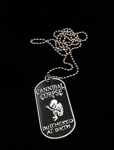 Cannibal Corpse Butchered At Birth Dog Tag Necklace