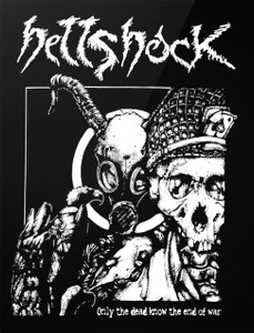 "Hellshock - Only the Dead Know the End of War 4x5"" Printed Sticker"