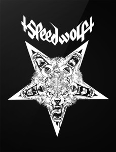 "Speedwolf - Wolf Pentagram 4x5"" Printed Sticker"