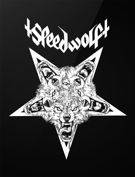 Speedwolf wolf pentagram 4x5 printed sticker for Dynamic black tattoo ink review