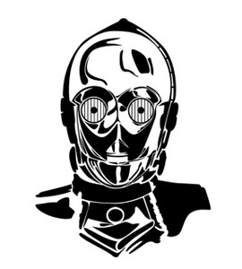 "Star Wars - C3PO 3.25x4"" Printed Sticker"
