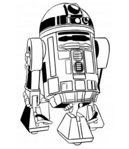 "Star Wars - R2D2 3.25x4"" Printed Sticker"