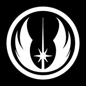 "Star Wars - Jedi Council Logo 2.75x2.75"" Printed Sticker"