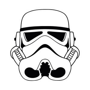 "Star Wars - Stormtrooper 3.75x4"" Printed Sticker"