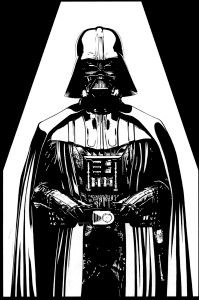 "Star Wars - Darth Vader 3x4.5"" Printed Sticker"