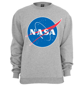 NASA Logo Grey Hooded Sweatshirt