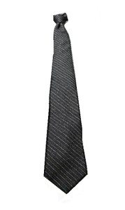 Grey Stripped Polyester Neck Tie