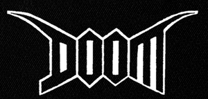 "Doom - Logo 7x4"" Printed Patch"