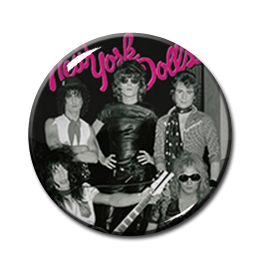"New York Dolls Black & White 2.25"" Pin"