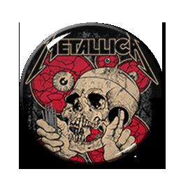 """Metallica - Rose and Skull 2.25"""" Pin"""