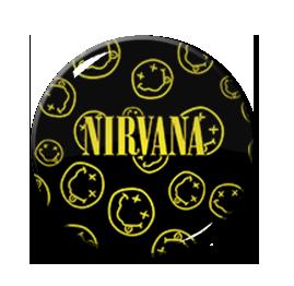 "Nirvana Smiley Collage 2.25"" Pin"
