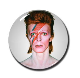"""David Bowie - Aladdin Sane 2.25"""" Pin"""