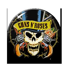 "Guns n' Roses Skull 2.25"" Pin"