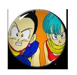 "Bulma and Milk Dragon Ball Z 2.25"" Pin"