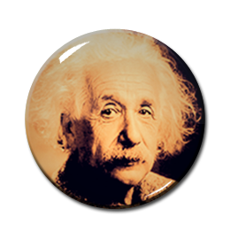 "Albert Einstein Pose #1 2.25"" Pin"