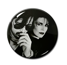 "Andrew Eldritch Sisters of Mercy 2.25"" Pin"