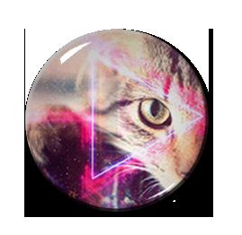 """Cat Eye Triangle Pattern 2.25"""" Pin"""
