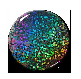 """Rainbow Glitter 2.25"""" Pin"""