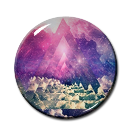 "Triangle Cosmic Pattern 2.25"" Pin"