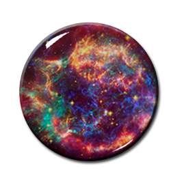 "Cosmic Sky Pattern 2.25"" Pin"
