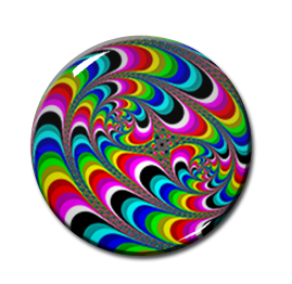 "Liquid Color Pattern 2.25"" Pin"