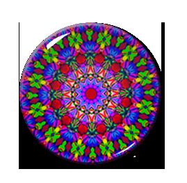 "Kaleidoscope Pattern #2 2.25"" Pin"