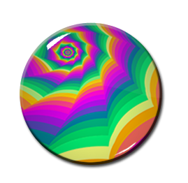 "Kaleidoscope Pattern #3 2.25"" Pin"