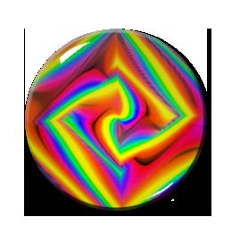 "Kaleidoscope Pattern #4 2.25"" Pin"