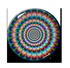 "Kaleidoscope Pattern #5 2.25"" Pin"