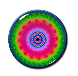 "Kaleidoscope Pattern #6 2.25"" Pin"