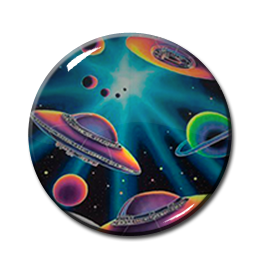 "Universe Cartoon UFO 2.25"" Pin"
