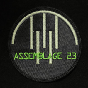 "Assemblage 23 3x3"" White Embroidered Patch"