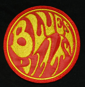 "Blues Pills 3x3"" Red/Yellow Embroidered Patch"